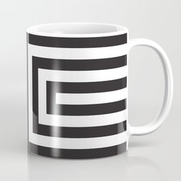 Black Greek Stripes Coffee Mug