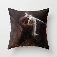 thranduil Throw Pillows featuring Thranduil by LucioL