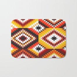 Colorful patchwork mosaic, oriental kilim rug Bath Mat