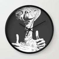 et Wall Clocks featuring ET by danielabbart