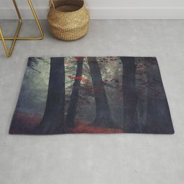 feel unreal - magical forest scene Rug