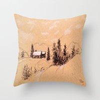switzerland Throw Pillows featuring Switzerland by Heather Hartley
