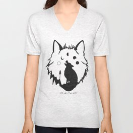 Which wolf will you feed? Unisex V-Neck
