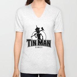 Tin Man Games logo Unisex V-Neck