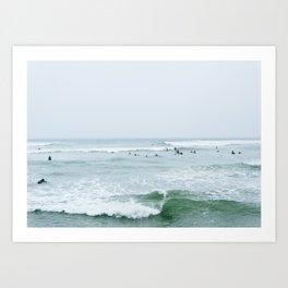 Tiny Surfers Lima, Peru 3 Art Print