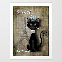Le Chat, La Reine - The Cat, The Queen Art Print