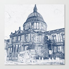 St Pauls Cathedral, London 2070 Canvas Print