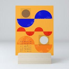 Mid-century shapes abstract no7 Mini Art Print