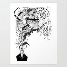 Mr Lovercraft's monsters Art Print