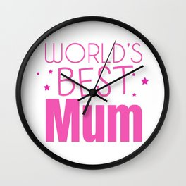 Mother's Day T-Shirt Wall Clock