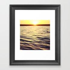 Sunset at Bodega Framed Art Print