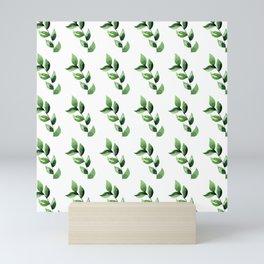 Green Branches in Rows Mini Art Print