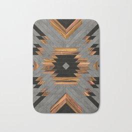Urban Tribal Pattern No.6 - Aztec - Concrete and Wood Bath Mat