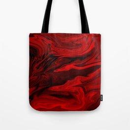 Blood Red Marble Tote Bag