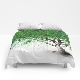 Green Breeze Tree Comforters