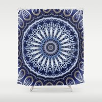 china Shower Curtains featuring China Blue by Peter Gross