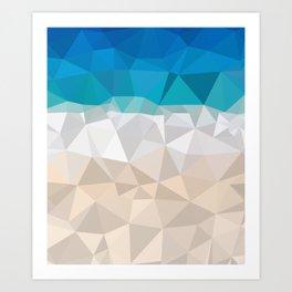 Low poly beach Art Print