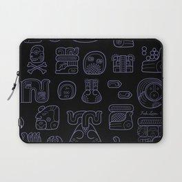 Picto-glyphs Story--Negro Laptop Sleeve