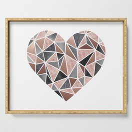 A Big Heart, Geometric Abstract Serving Tray