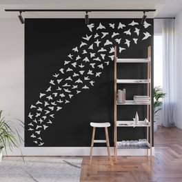 Flock of Birds // white Wall Mural