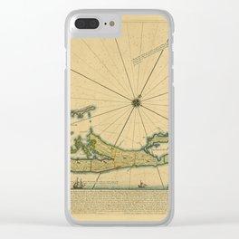 Map Of Bermuda 1732 Clear iPhone Case