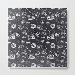 Discjockey Pattern | DJ Music Vinyl Turntables Metal Print