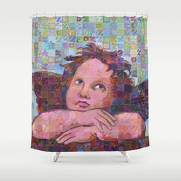 Sistine Cherub No. 2 Shower Curtain
