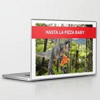 trex Laptop & iPad Skins featuring PIZZA TREX!! by anthonykun