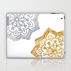 Gold and silver lace floral Laptop & iPad Skin
