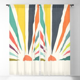 Rainbow ray Blackout Curtain