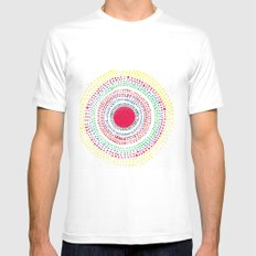 Dotto 1 White MEDIUM Mens Fitted Tee
