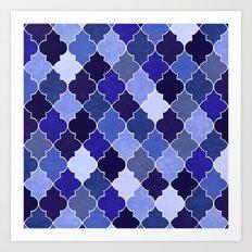 Morocco Blue Art Print