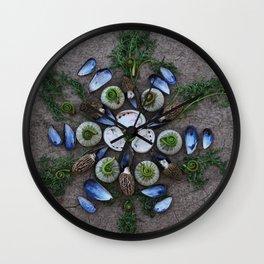Nature Mandala: April Wall Clock