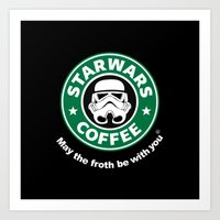 coffe Art Prints featuring SW Coffe by ismaeledits