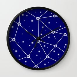 Constellations/Star Gazing Wall Clock