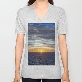 Sunrise at Sea Unisex V-Neck