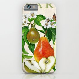 Pears and their Blossoms iPhone Case
