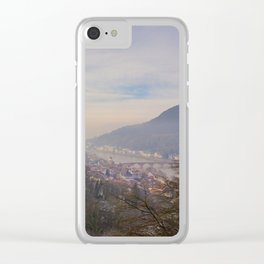 Castle and Town Views Clear iPhone Case