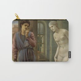 """Edward Burne-Jones """"Pygmalion and Galatea II: The Hand Refrains"""" Carry-All Pouch"""