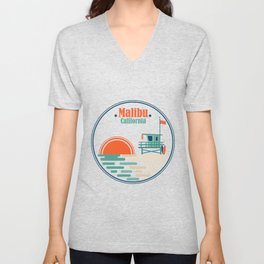 Malibu, California Unisex V-Neck