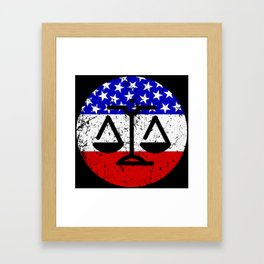 American Flag Lawyer Judge Framed Art Print
