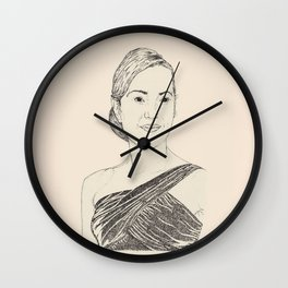 Kate Winslet Portrait Wall Clock