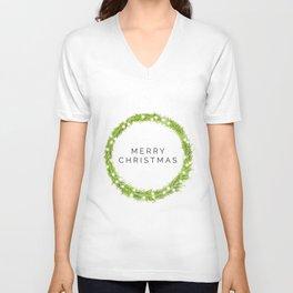 Minimalist Christmas Unisex V-Neck
