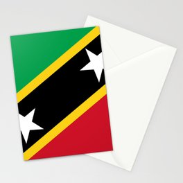 St. Kitts And Nevis Flag Stationery Cards