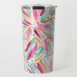 Summer Vibes in stripes and dots Travel Mug