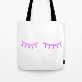 Pink Watercolor Lashes Tote Bag