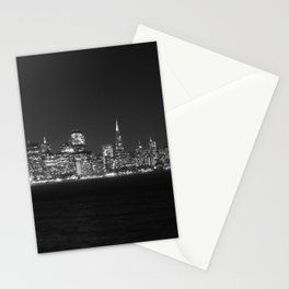 SF at as night seen from Treasure Island Stationery Cards