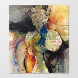 Her Blue Bird by Kathy Morton Stanion Canvas Print