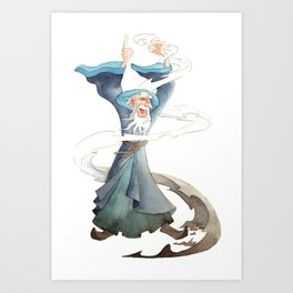Wizard's Fury Art Print