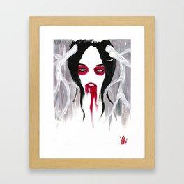 La Fille aux Cercles Rouges II Framed Art Print